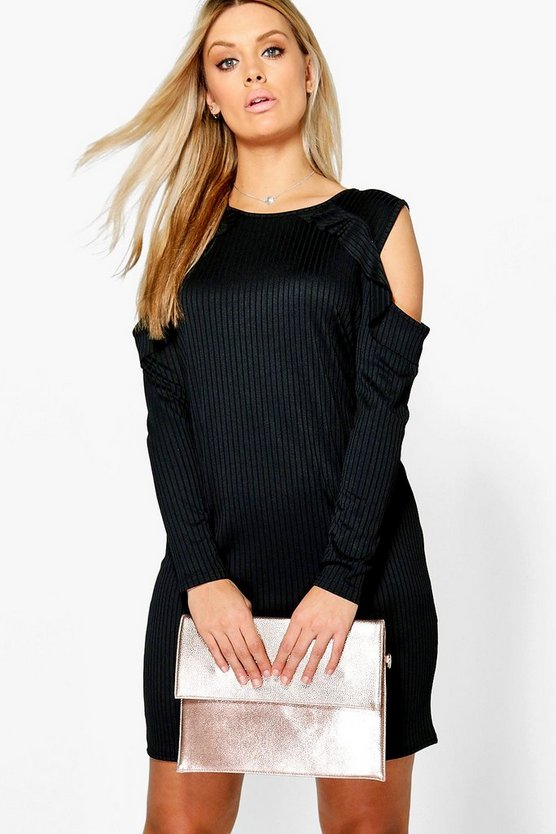 Plus Willow Cold Shoulder Ruffle Dress