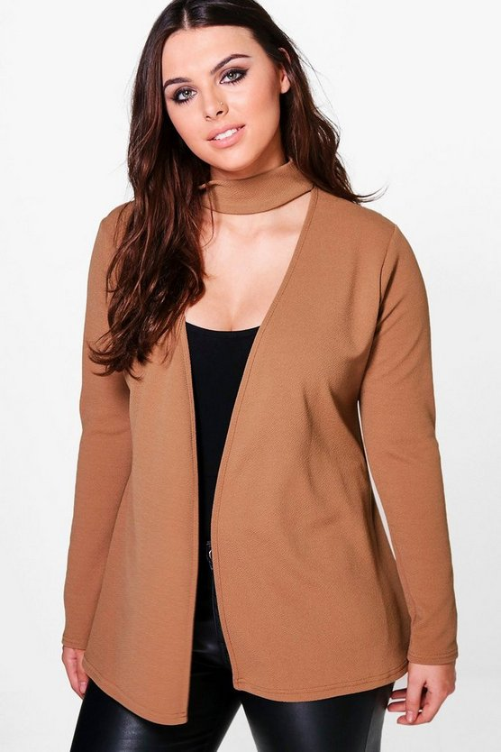 Plus Madison Choker Detail Blazer