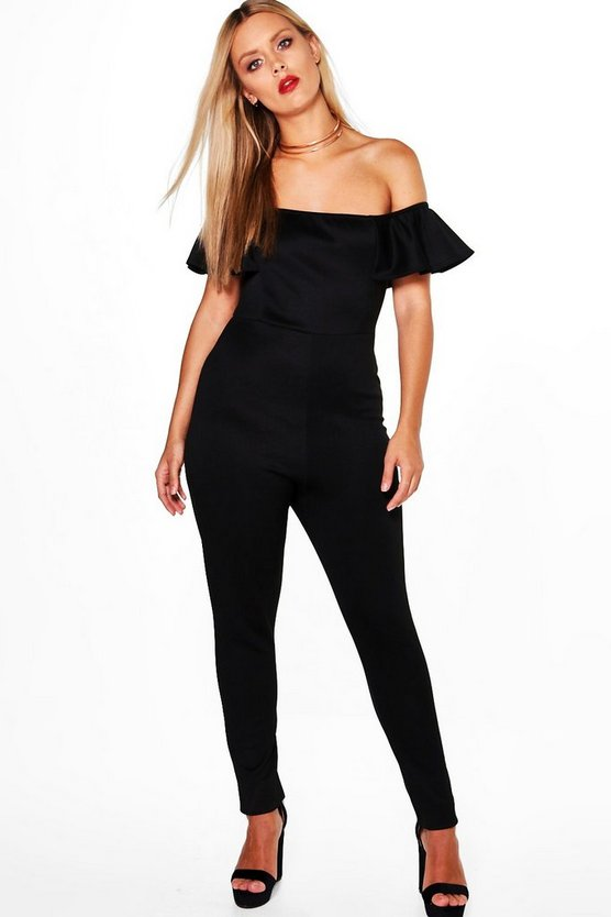 Plus Brooke Ruffle Jumpsuit