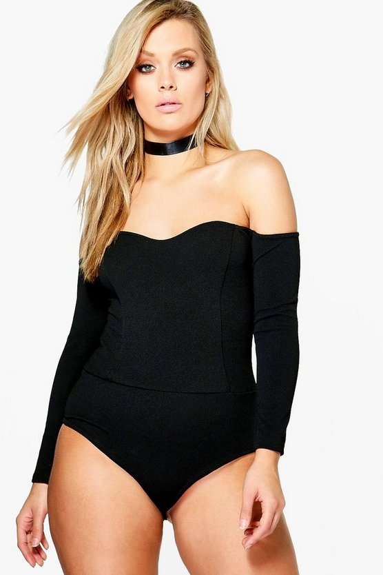 Plus Katie Off The Shoulder Bodysuit
