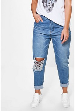 Plus Ruby High Rise Rip Boyfriend Jean