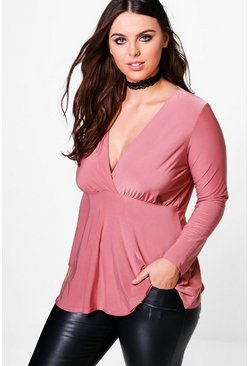 Plus Bethany Ruched Slinky Top