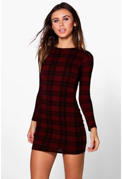 Petite Georgia Tartan Bodycon Mini Dress