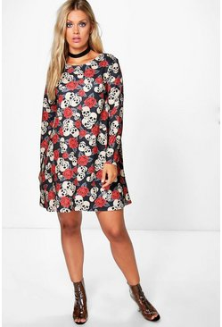 Plus Becky Skull Halloween Dress