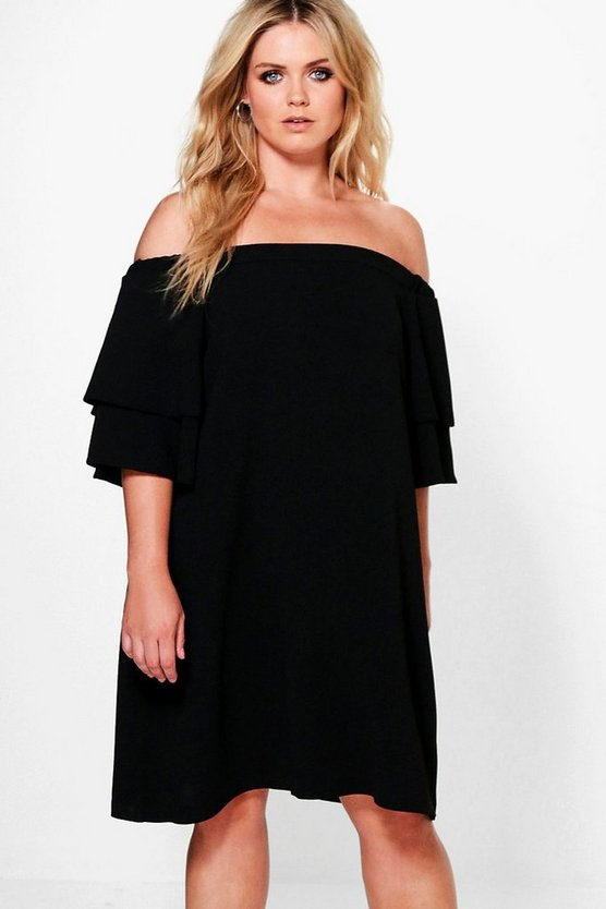 Plus Amanda Off The Shoulder Shift Dress