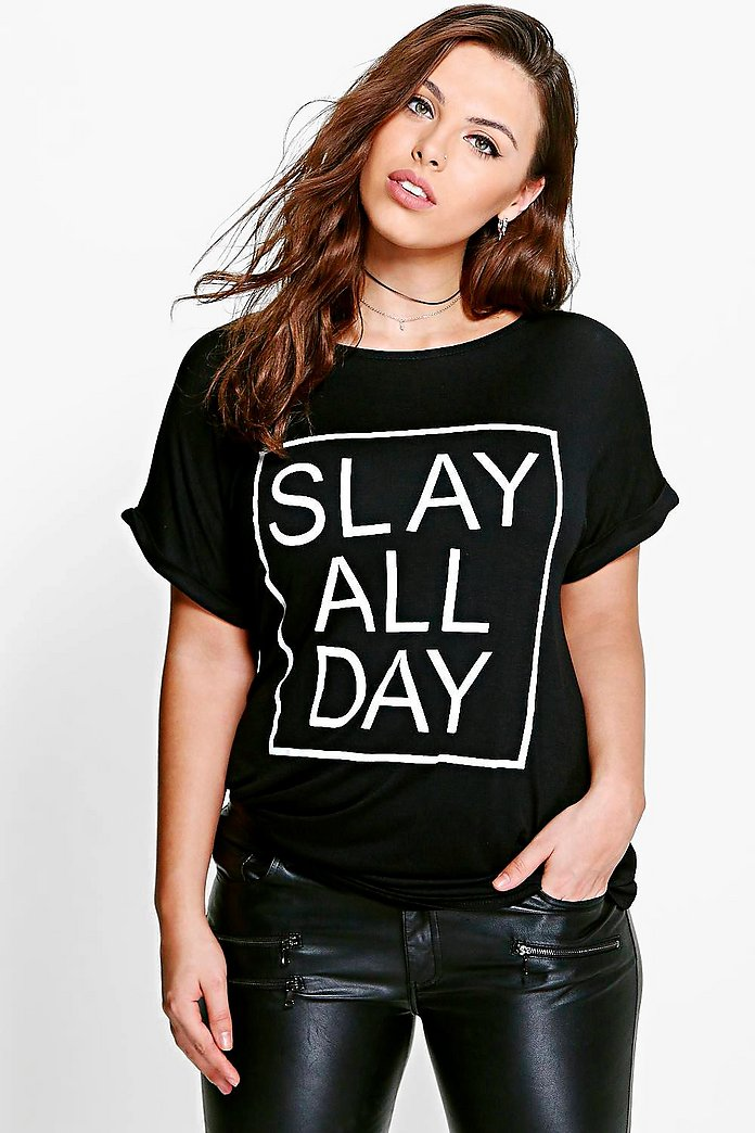 Plus Leona Slay All Day Printed Tee