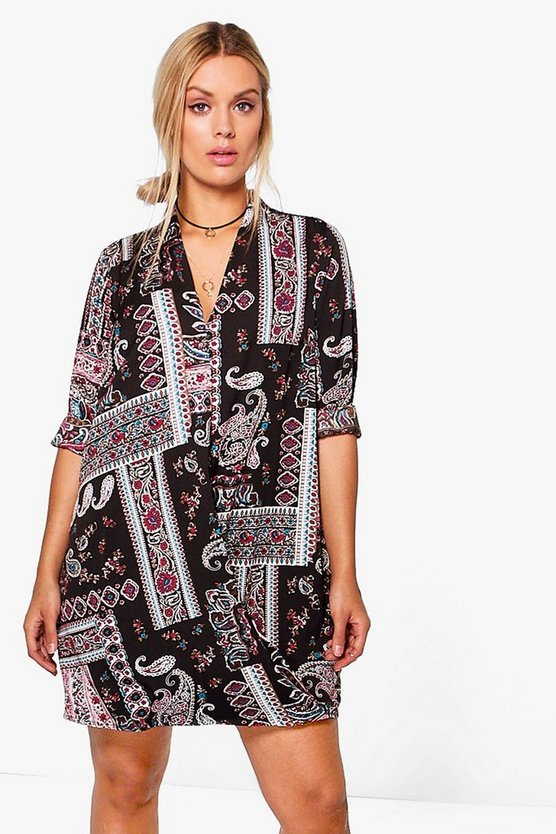 Plus Lydia Printed Wrap Dress