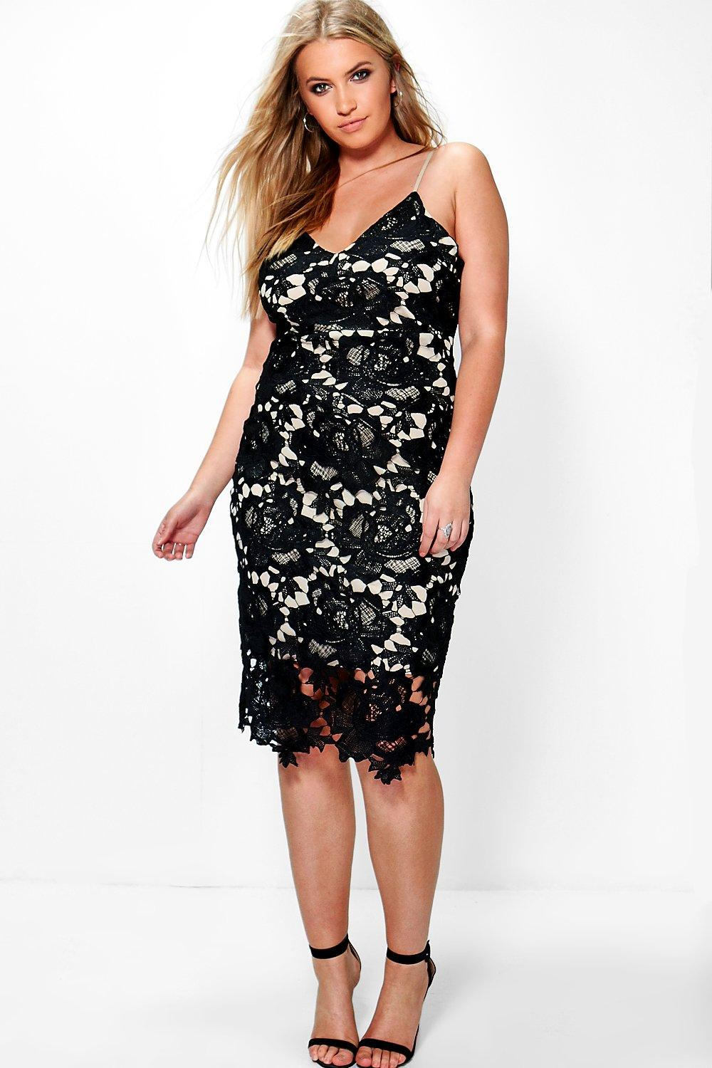 Plus Indea Boutique Crochet Lace Midi Dress