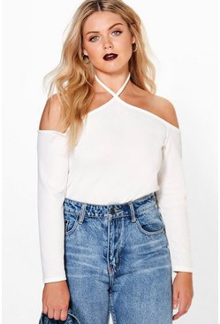Plus Jessie Open Shoulder Top
