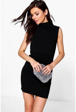 Petite Jade Open Back Crepe Bodycon Dress