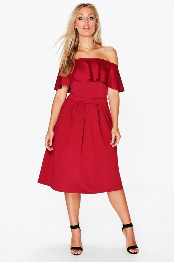 Plus Polly Double Layer Midi Dress