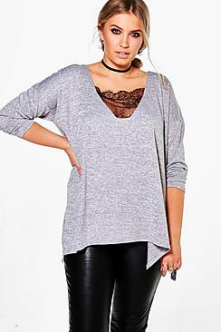 Plus Kerry Lace Detail Jumper