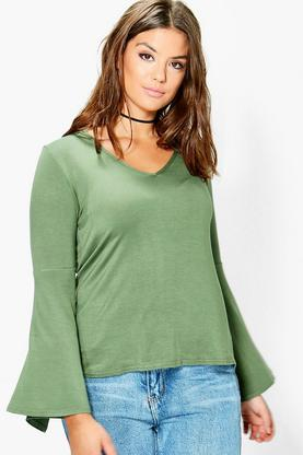 Plus Jodie Wide Sleeve Jersey Top