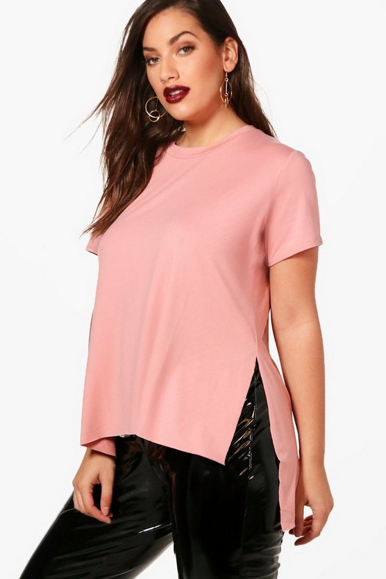 Plus Side Split Oversized T-Shirt