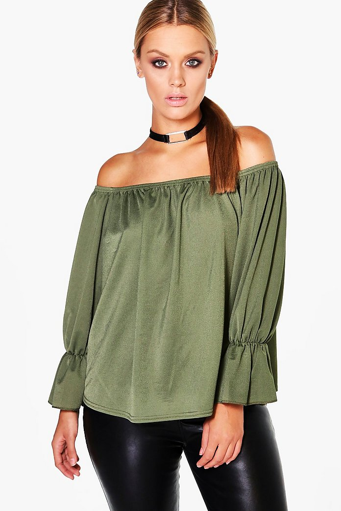 Plus Liz Choker Detail Bandeau Top