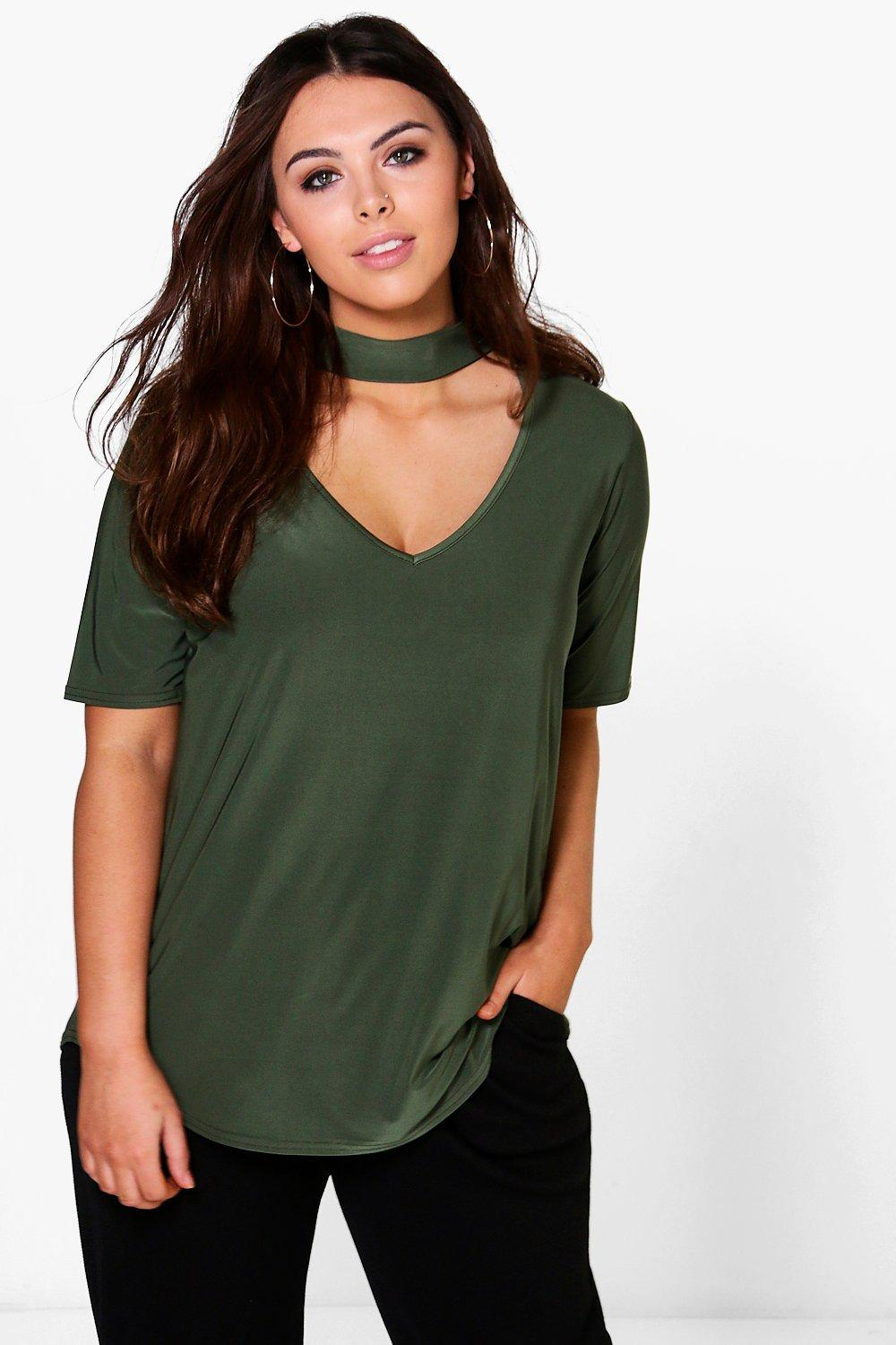 Plus Melody Slinky Open Neck Top