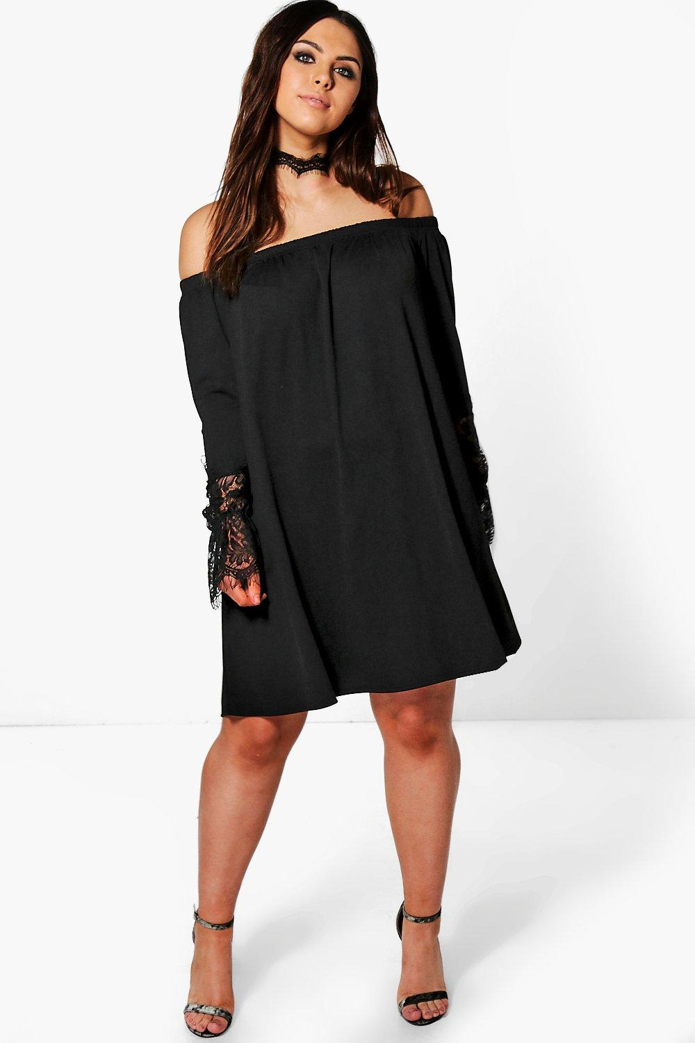 Plus Julia Bandeau Lace Choker Dress