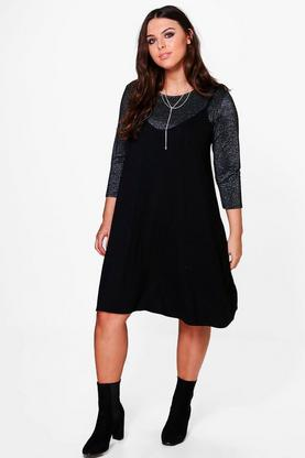 Plus Lydia Shimmer 2 In 1 Dress