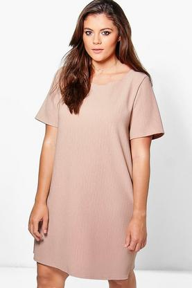 Plus Evie Textured Shift Dress