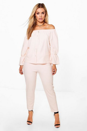Nude Plus  Off The Shoulder Top + Trouser Co-ord