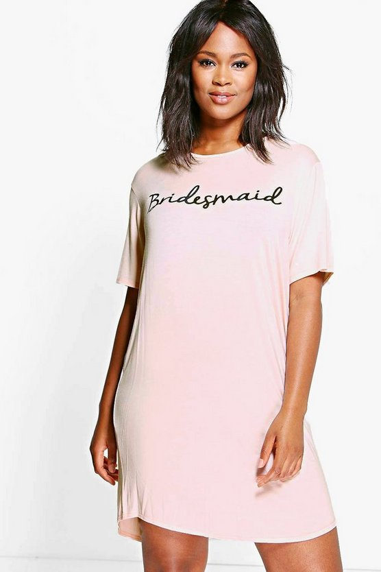 Plus Tilly Bridesmaid Slogan Bridal Nightie