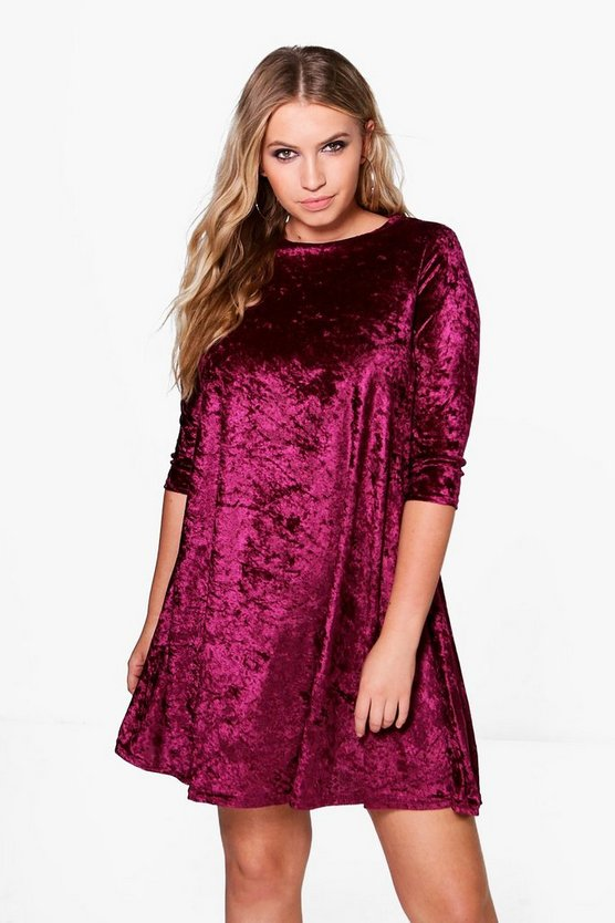 Plus Dani Velvet Swing Dress