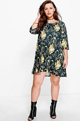 Plus Wendy Printed Swing Dress