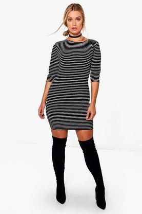 Plus Sally Stripe Bodycon Dress