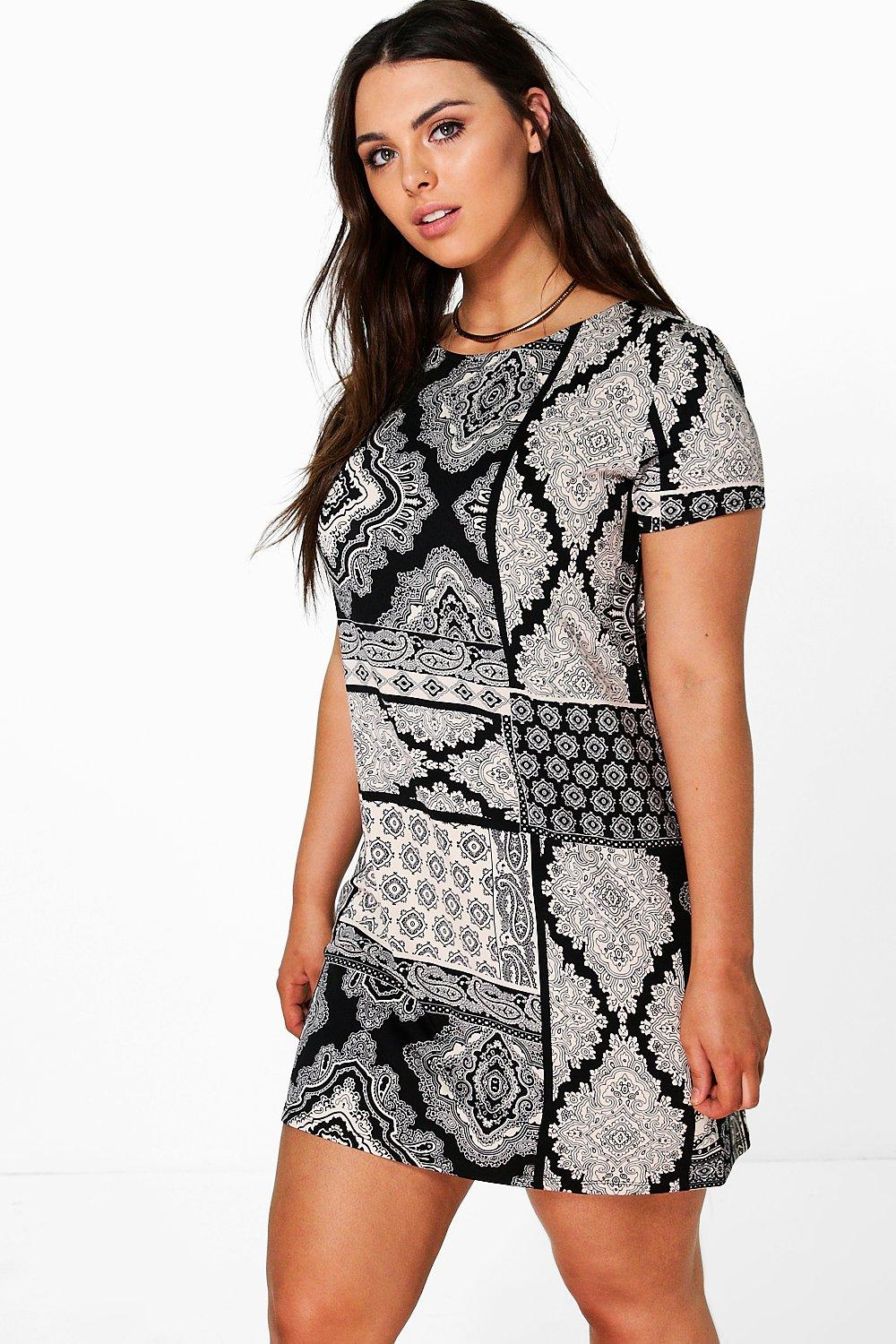 Plus Aileen Printed Shift Dress