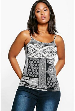 Plus Lisa Printed Cami