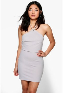 Petite Emma Eyelet Halter Bodycon Dress