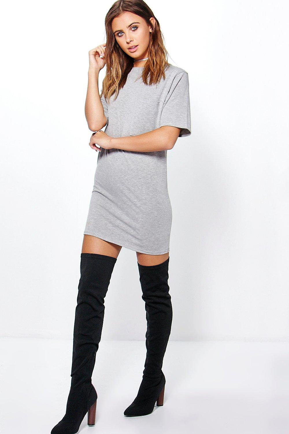 Petite Tessa Slouchy T-Shirt Dress