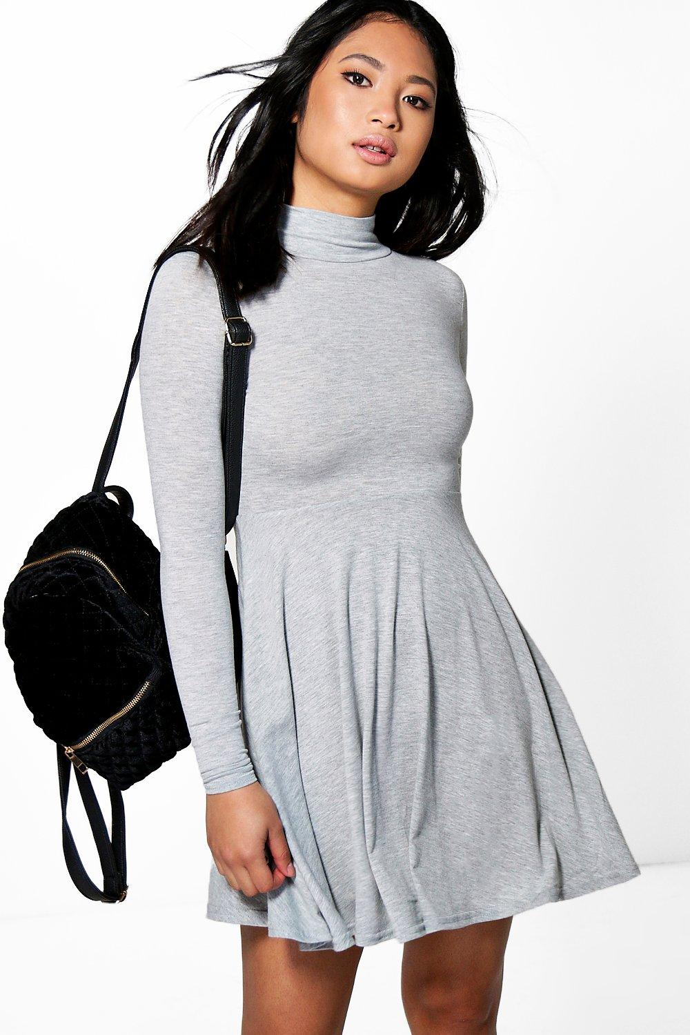 Petite Tanya High Neck Skater Dress