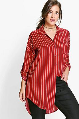 Plus Frances Oversized Stripe Shirt