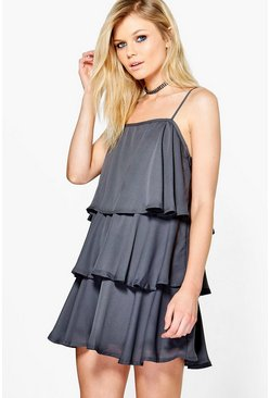 Petite Juliette Ruffle Tiered Swing Dress