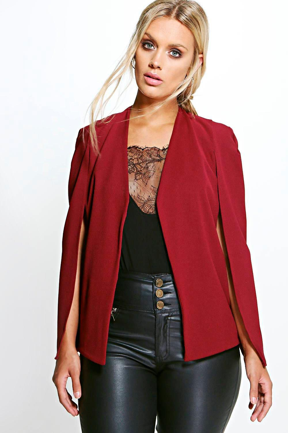 Plus Natalie Cape Detail Blazer