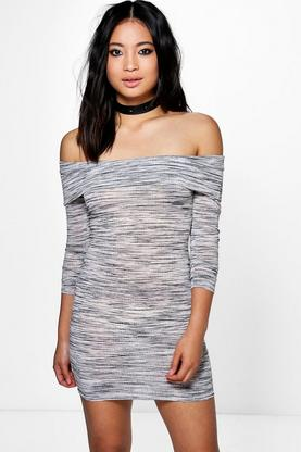Petite Tanya Off The Shoulder Bodycon Dress