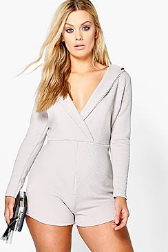 Plus Josie Wrap Front Playsuit