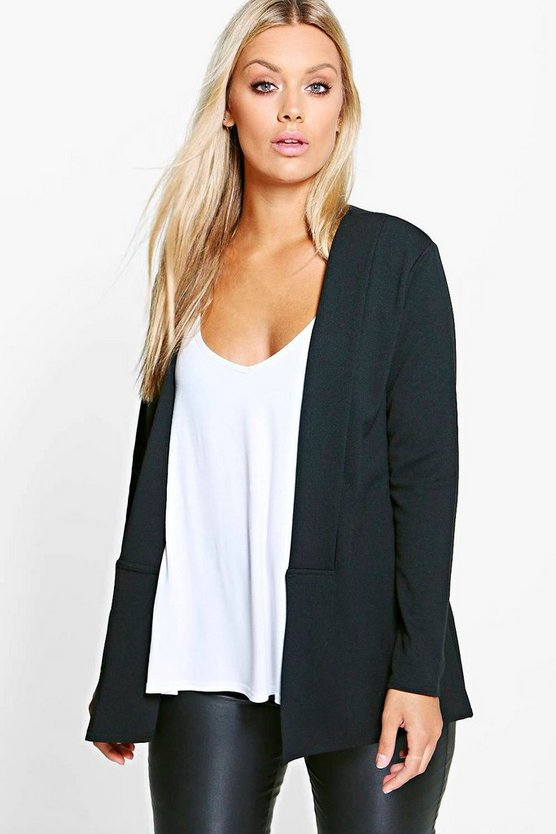Plus Alisha Panel Front Blazer