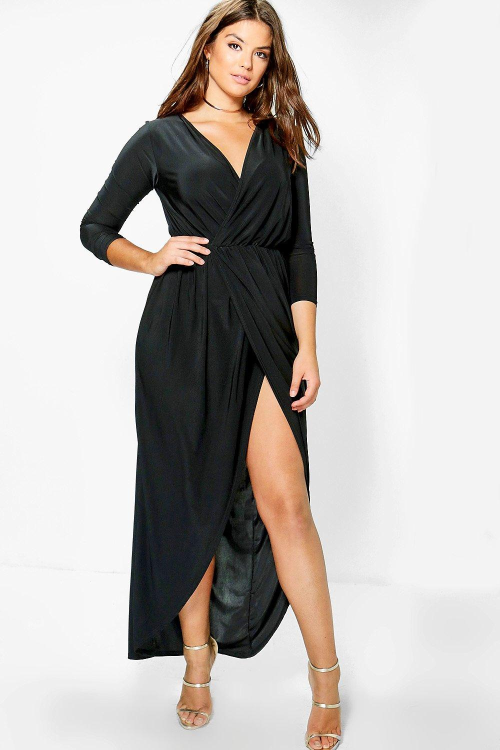 Plus Zoe Slinky Wrap Front Maxi Dress