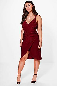Plus Maria Midi Wrap Dress