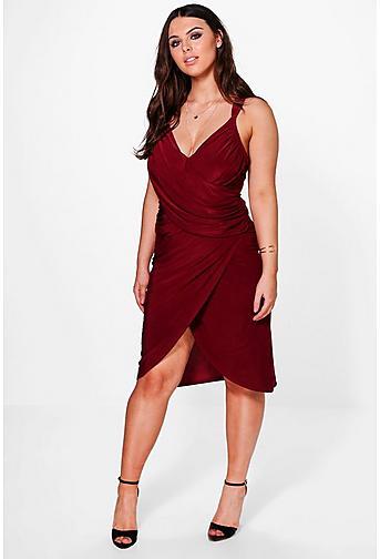 Plus Maria Midi Wrap Dress