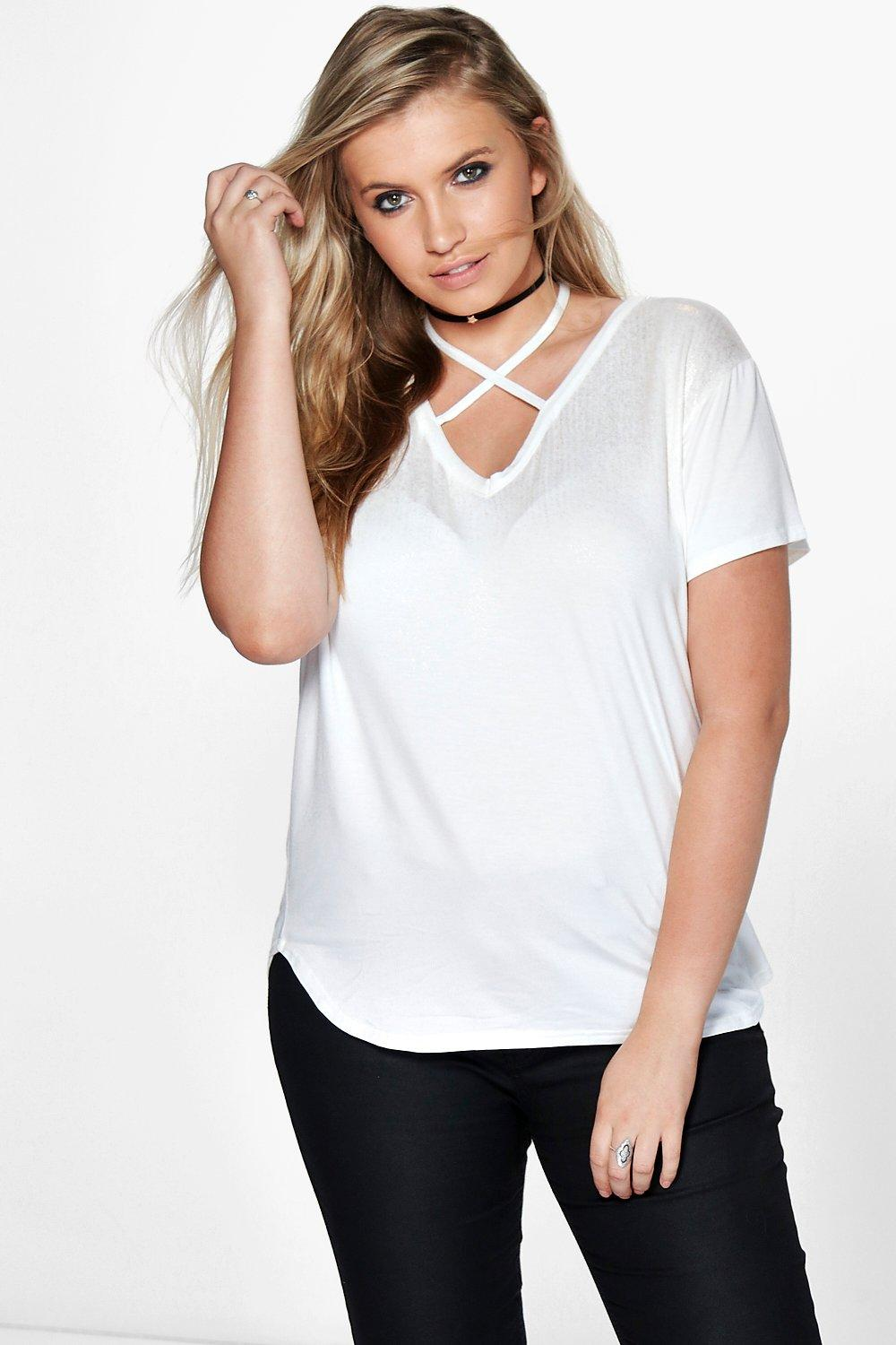Plus Shelley Metallic Strappy Tee