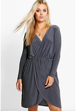 Plus Leah Slinky Wrap Front Dress