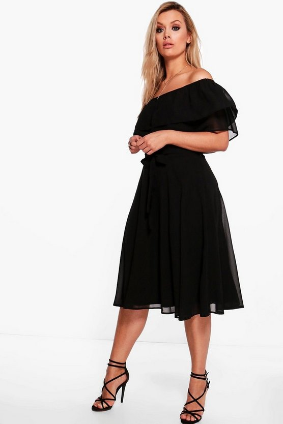 Plus Polly Lace Strappy Swing Dress