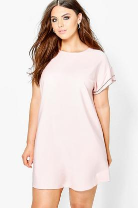 Plus Amanda Sequin Detail Shift Dress