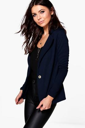 Petite Honor Fitted Double Button Blazer