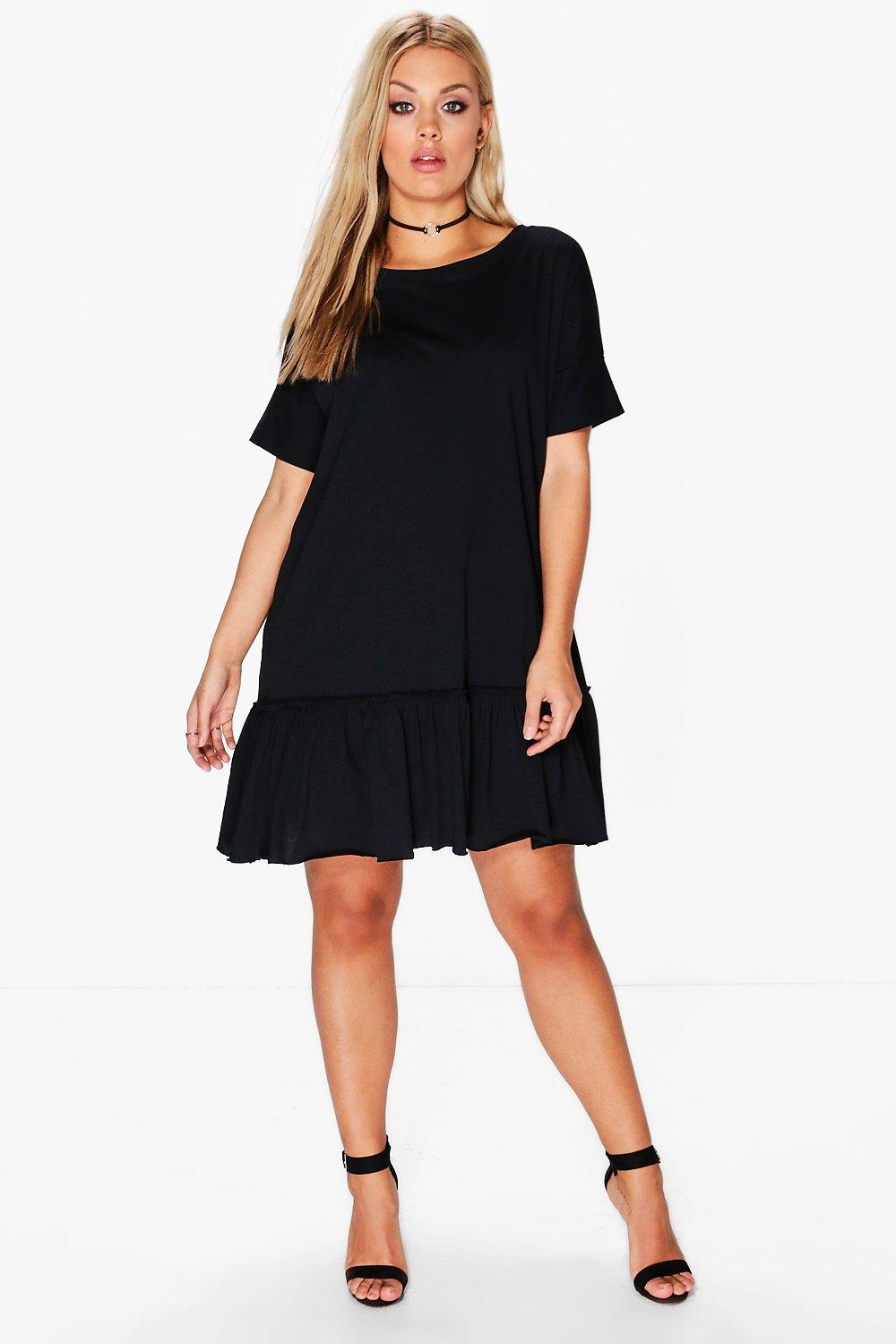 Plus Diana Frill Hem T-Shirt Dress