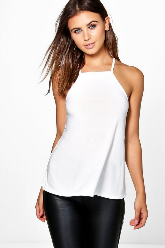 Petite Maisie Ring Detail Strappy Back Cami