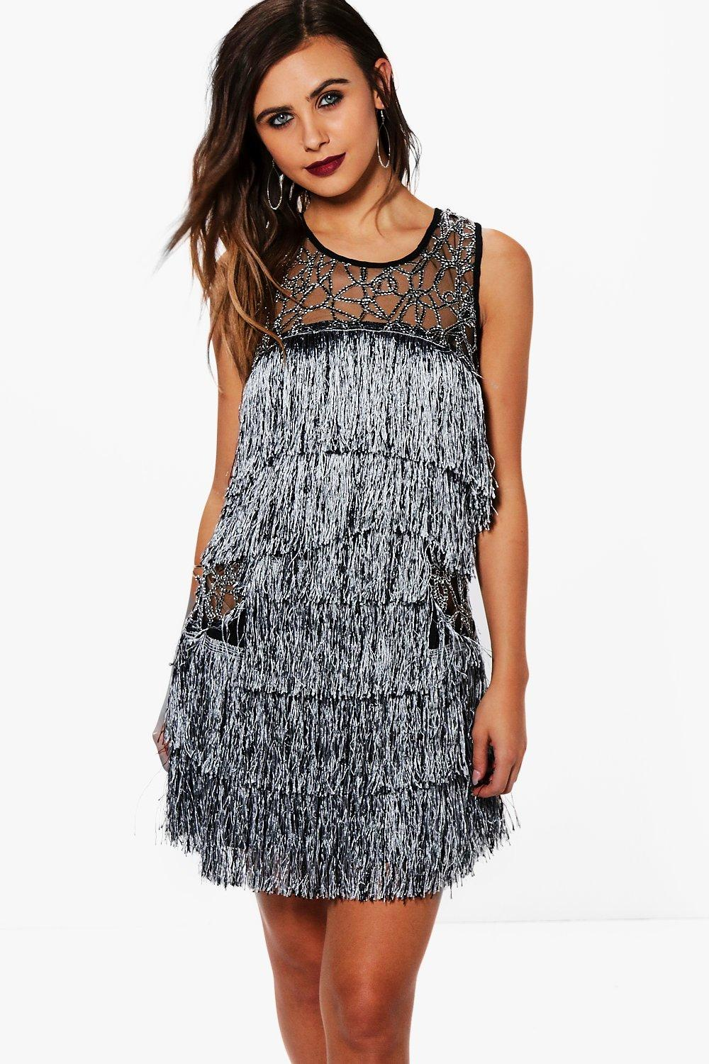 Petite Layla Premium All Over Tassel Dress